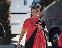 20200310  Lagos , Portugal : Belgian Maud Coutereels (17) pictured prior to the female football game between the national teams of Belgium called the Red Flames and Denmarkl on the third and last matchday for the 5th or 6th place of the Algarve Cup 2020 , a prestigious friendly womensoccer tournament in Portugal , on tuesday 10 th March 2020 in Lagos , Portugal . PHOTO SPORTPIX.BE | DAVID CATRY