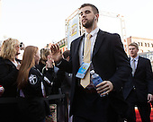 Brendan Leahy (PC - 1) - The teams walked the red carpet through the Fan Fest outside TD Garden prior to the Frozen Four final on Saturday, April 11, 2015, in Boston, Massachusetts.