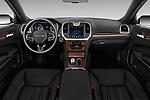 Stock photo of straight dashboard view of 2017 Chrysler 300C Platinum 4 Door Sedan Dashboard