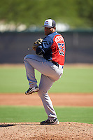 Cleveland Indians pitcher Cesar Ventura (53) during an Instructional League game against the Los Angeles Dodgers on October 10, 2016 at the Camelback Ranch Complex in Glendale, Arizona.  (Mike Janes/Four Seam Images)