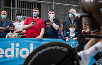 roadside fans<br /> <br /> 104th Giro d'Italia 2021 (2.UWT)<br /> Stage 1 (ITT) from Turin to Turin (8.6 km)<br /> <br /> ©kramon