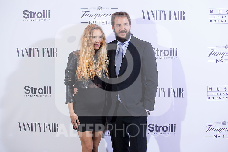 Miriam Giovanelli and Borja Thyssen poses during the 'HUBERT DE GIVENCHY' exhibition inauguration at THYSSEN-BORNEMISZA museum in Madrid, Spain. October 20, 2014. (ALTERPHOTOS/Victor Blanco)
