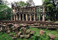 Ruins at Prah Khan Temple Angkor Cambodia.