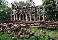 Ruins at Prah Khan Temple Angkor Cambodia.