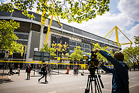 16th May 2020, Signal Iduna Park, Dortmund, Germany; Bundesliga football, Borussia Dortmund versus FC Schalke;  Numerous journalists and media representatives set up before the game