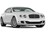 Low aggressive passenger side front three quarter view of a 2008 - 2012 Bentley Continental GT Speed Coupe.