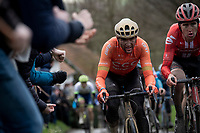 Greg Van Avermaet (BEL/CCC) up the Molenberg<br /> <br /> 75th Omloop Het Nieuwsblad 2020 (1.UWT)<br /> Gent to Ninove (BEL): 200km<br /> <br /> ©kramon