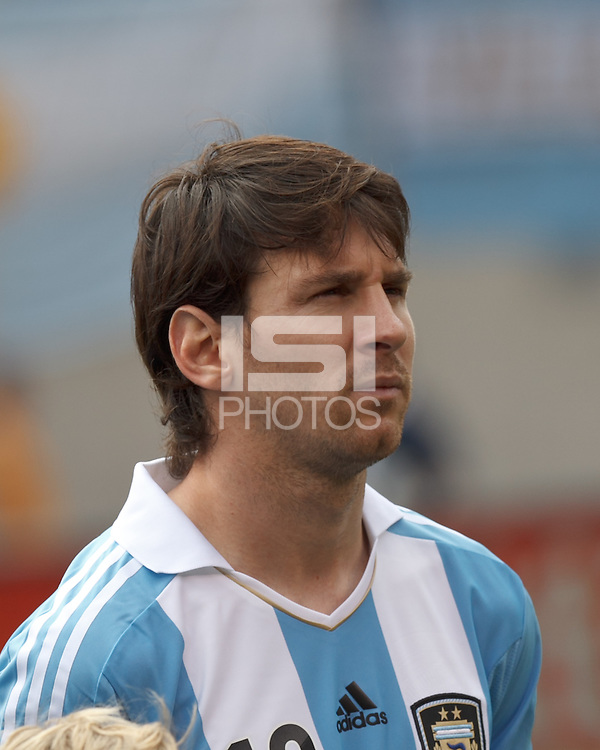 Argentina forward  Lionel Messi (10). In an international friendly (Clash of Titans), Argentina defeated Brazil, 4-3, at MetLife Stadium on June 9, 2012.