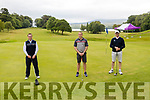 Chris Dale, Dan Lucey and Sean Murphy taking part in the Kenmare Golf Club 117 Hole marathon.