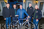 Conor Ellard, winner of the Chain Gang's Bike which was presented on behalf of the late Nicky Fitzgerald from the Fitzgerald family.<br /> L to r: Tomas Crowley (Safety Officer), John Murray (Chairman), Conor Ellard, David Elton (Sec) and Aidan Hobbert.