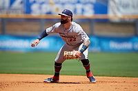 Jacksonville Jumbo Shrimp first baseman John Silviano (22) during a Southern League game against the Mississippi Braves on May 5, 2019 at Trustmark Park in Pearl, Mississippi.  Mississippi defeated Jacksonville 1-0 in ten innings.  (Mike Janes/Four Seam Images)