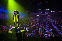 04.01.2015.  London, England.  William Hill PDC World Darts Championship.  Finals Night.  The Sid Wadell Trophy and general view of the Ally Pally before the final of The 2015 William Hill World Darts Championship.