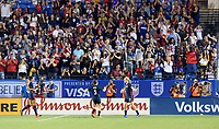 FRISCO, TX - MARCH 11: The USWNT score to make it 3-1 against Japan during a game between Japan and USWNT at Toyota Stadium on March 11, 2020 in Frisco, Texas.