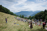race leaders up the opening climb directly after the start; the Collet de Tamié (8.1km @7%)<br /> <br /> Stage 19:  Albertville › Saint-Gervais /Mont Blanc (146km)<br /> 103rd Tour de France 2016