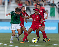 Bradenton, FL - Sunday, June 12, 2018: Mia Fishel, Reyna Reyes during a U-17 Women's Championship Finals match between USA and Mexico at IMG Academy.  USA defeated Mexico 3-2 to win the championship.