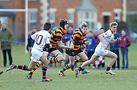 RBAI vs R S ARMAGH | Saturday 21st February 2015<br /> <br /> Charlie Fryers during 2015 Ulster Schools Cup Quarter-Final between RBAI and Royal School Armagh at Osborne Park, Belfast, Northern Ireland.<br /> <br /> Picture credit: John Dickson / DICKSONDIGITAL