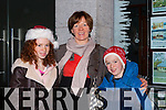 Aoibhín, Helen and Donnacha Whelton enjoying the Kenmare Christmas celebrations on Saturday night