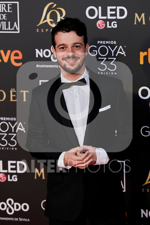 Fernando Tielve attends to 33rd Goya Awards at Fibes - Conference and Exhibition  in Seville, Spain. February 02, 2019. (ALTERPHOTOS/A. Perez Meca)