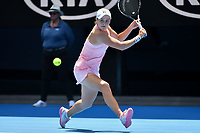 January 20, 2019: 15th seed Ashleigh Barty of Australia in action in the fourth round match against 30th seed Maria Sharapova of Russia on day seven of the 2019 Australian Open Grand Slam tennis tournament in Melbourne, Australia. Photo Sydney Low