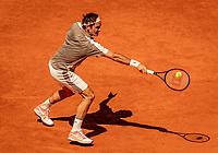 Paris, France, 2 june, 2019, Tennis, French Open, Roland Garros, Roger Federer (SUI)<br /> Photo: Henk Koster/tennisimages.com