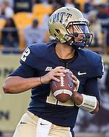 Pitt quarterback Tino Sunseri. The Pitt Panthers defeated the Gardner-Webb Runnin Bulldogs 55-10 at Heinz Field, Pittsburgh PA on September 22, 2012..