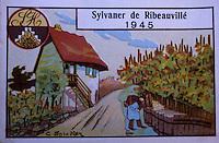 Europe/France/Alsace/68/Haut-Rhin/Kientzheim : Vieilles étiquettes de vin Collection du vignoble et des vins