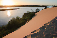 sunset on Preguiças River Barreirinhas Nordeste Brazil