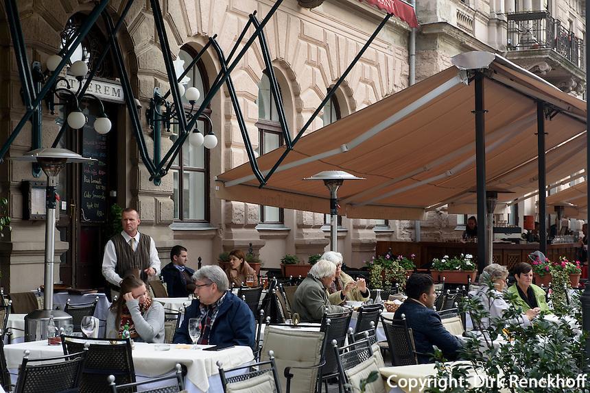 Restaurant am Donaukorso, Dunakorzó, Budapest, Ungarn