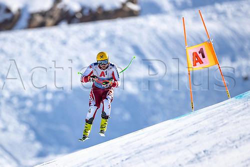 11th November 2020; Obergurgl, Austria; Max Franz of Austria during a free downhill training for the mens OeSV team in Obergurgl, Austria