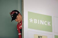 Stage winner Jasper Stuyven (BEL/Trek Segafredo) waiting to go on the podium. <br /> <br /> Binckbank Tour 2017 (UCI World Tour)<br /> Stage 7: Essen (BE) > Geraardsbergen (BE) 191km
