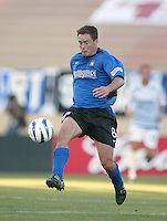 Earthquakes Forward Richard Mulrooney in action against Wizards at San Jose Spartan Stadium in San Jose, California on June 28th, 2003.  Earthquakes and Wizards are tied 0-0 in overtime.