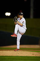 Peoria Chiefs relief pitcher Spencer Trayner (37) delivers a pitch during a game against the West Michigan Whitecaps on May 8, 2017 at Dozer Park in Peoria, Illinois.  West Michigan defeated Peoria 7-2.  (Mike Janes/Four Seam Images)