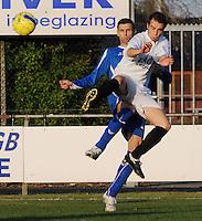 SV Rumbeke - SV Kortrijk..duel tussen Nico Vereecke (links) en Sven Buysens (rechts)..foto VDB / BART VANDENBROUCKE