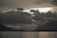 Stormy morning over Naknek lake, Katmai National park, Alaska.