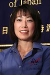 June 28, 2010 - Tokyo, Japan - Japan Aerospace Exploration Agency (JAXA) astronaut Naoko Yamazaki speaks to the media during a press conference at the Foreign Correspondent Club of Japan in Tokyo on June 28, 2010. On April 5, 2010 Yamazaki entered space on the shuttle Discovery as part of mission STS-131 and returned to Earth on April 20, 2010. Space Shuttle mission STS-131, was notable as the longest yet for Shuttle Discovery and the latest to carry a Japanese astronaut into space.