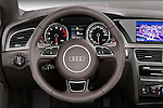 Steering wheel view of a 2013 Audi A5 Convertible
