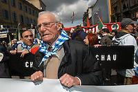 - demonstration of April 25, anniversary of Italy's Liberation by the nazifascism, survivors from the nazi concentration camps....- manifestazione del 25 aprile, anniversario della Liberazione dell'Italia dal nazifasismo, reduci dai campi di concentramento nazisti