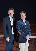 25-02-2014, Netherlands, Warmond, Dekker Tennis, , KNLTB Director Erik Poel and Director Sportif Jan Siemerink(L), <br /> Photo: Henk Koster