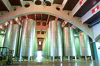 Modernista style vaulted winery. Fermentation tanks. Raimat Costers del Segre Catalonia Spain