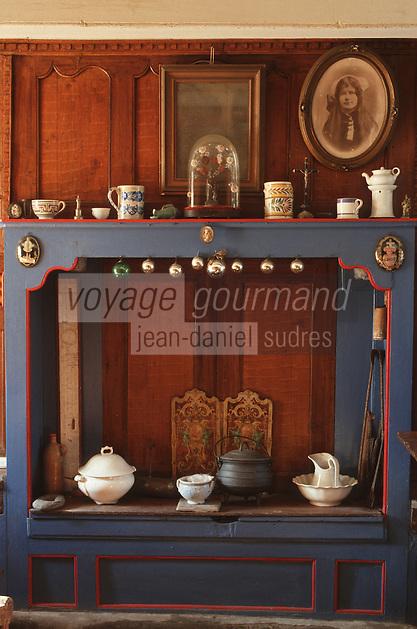 Europe/France/Bretagne/29/Finistère/Ile d'Ouessant: intérieur ouessantin - Maison de M. Victor GUERMEUR