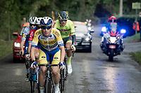 Aaron Van Poucke (BEL/Sport Vlaanderen - Baloise) in the breakaway group<br /> <br /> 84th La Flèche Wallonne 2020 (1.UWT)<br /> 1 day race from Herve to Mur de Huy (202km/BEL)<br /> <br /> ©kramon