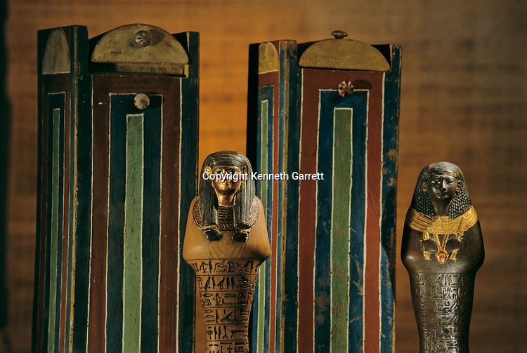 Shabti and shabti Boxes of Yuya ; KV 46; Valley of the Kings; reign of Amenhotep III,Tutankhamun and the Golden Age of the Pharaohs; Page 133