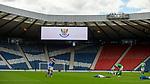 22.05.2021 Scottish Cup Final, St Johnstone v Hibs: Empty stands as St Johnstone celebrate