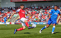 Ched Evans of Fleetwood Town during the Sky Bet League 1 match between Fleetwood Town and Peterborough at Highbury Stadium, Fleetwood, England on 19 April 2019. Photo by Stefan Willoughby.