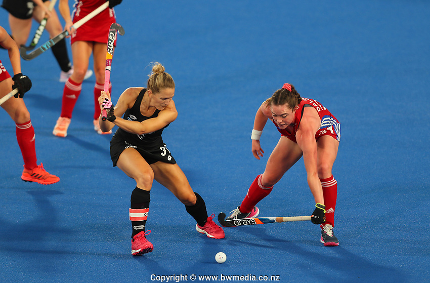 Stacey Michelsen during the Pro League Hockey match between the Blacksticks women and Great Britain, National Hockey Arena, Auckland, New Zealand, Saturday 8 February 2020. Photo: Simon Watts/www.bwmedia.co.nz