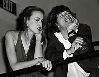 Jagger Hall6704.JPG<br /> New York, NY 1978 FILE PHOTO<br /> Mick Jagger & Jerry Hall<br /> Studio 54<br /> Digital photo by Adam Scull-PHOTOlink.net<br /> ONE TIME REPRODUCTION RIGHTS ONLY<br /> NO WEBSITE USE WITHOUT AGREEMENT<br /> 718-487-4334-OFFICE  718-374-3733-FAX