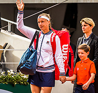 Paris, France, 29 May, 2019, Tennis, French Open, Roland Garros, Kiki Bertens (NED) entering the court Philippe Chatrier (Centercourt)<br /> Photo: Henk Koster/tennisimages.com