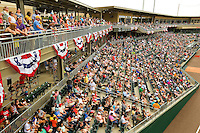 BB&T BallPark - located in Uptown Charlotte, NC is the home of the International League AAA Charlotte Knights baseball team. The  10,000 seat natural grass field is located against the beautiful Center City Charlotte skyline. The stadium overs a panoramic view of the Charlotte, North Carolina skyline.<br /> <br /> Charlotte Photographer - PatrickSchneiderPhoto.com