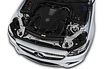 Car stock 2018 Mercedes Benz E Class Base 2 Door Convertible engine high angle detail view