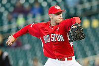 Relief pitcher Matt Creel #43 of the Houston Cougars in action against the Kentucky Wildcats at Minute Maid Park on March 5, 2011 in Houston, Texas.  Photo by Brian Westerholt / Four Seam Images